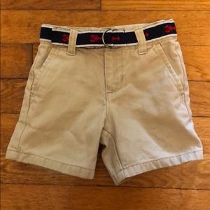 Khaki shorts with attached lobster belt 🦞